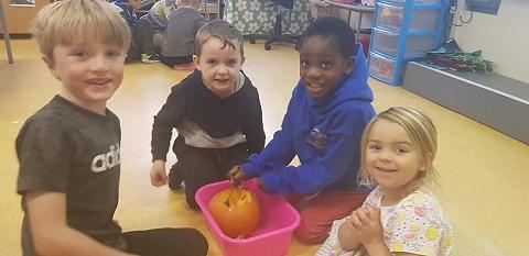 Pumpkin Carving in Infants!