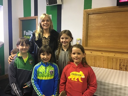 Camogie players meet All-Ireland Captain